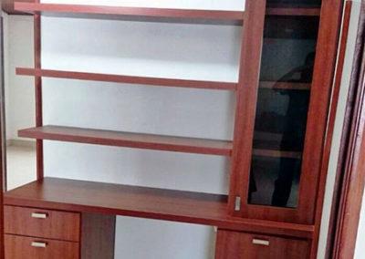 Mueble de biblioteca en madecor diseño moderno y funcional