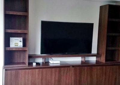 Centro de televisión en madecor colores tendencia y diseño personalizado