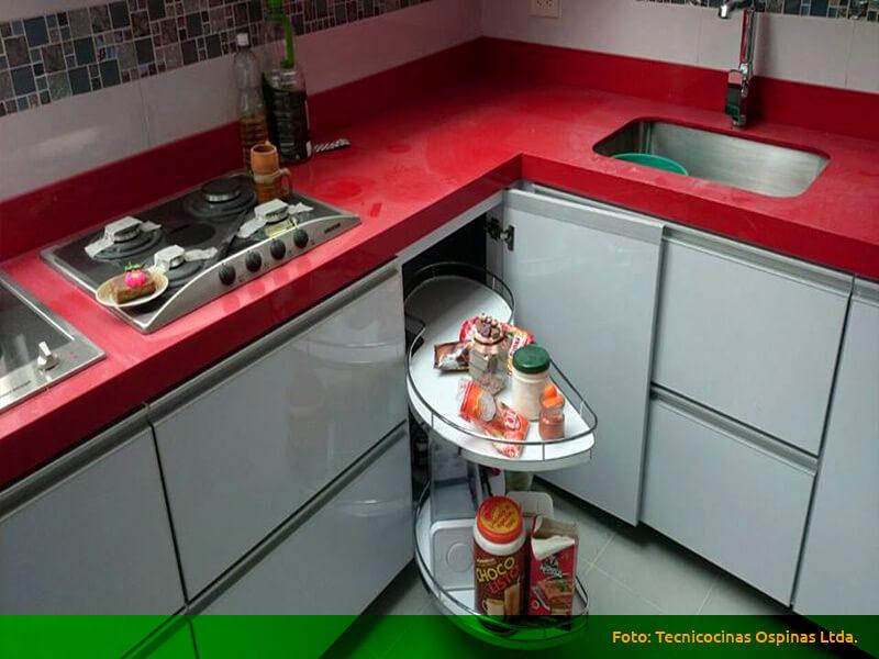 Esquinas m gicas espacios optimizados con gran dise o for Diseno de cocinas bogota