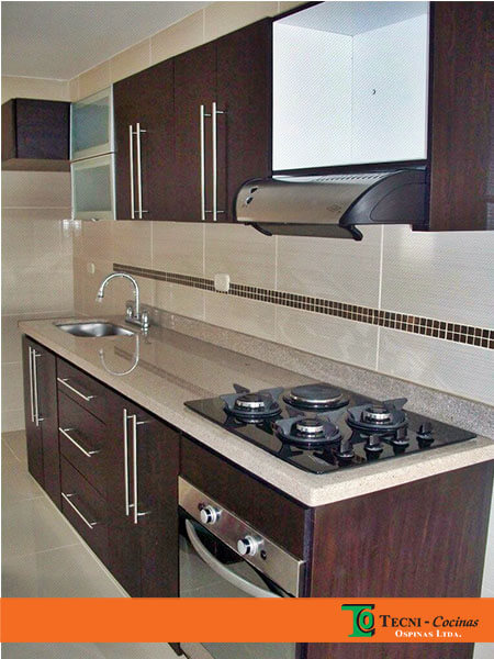 Cocinas integrales realizadas en f rmica con dise o moderno for Cocinas de granito natural