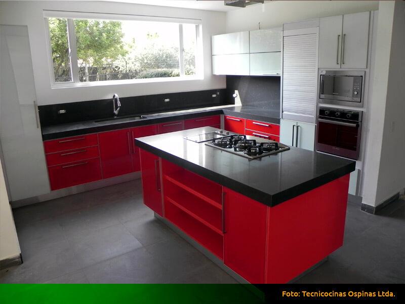 Mesones de vidrio para cocina cristal templado cocina - Cocinas de cristal ...