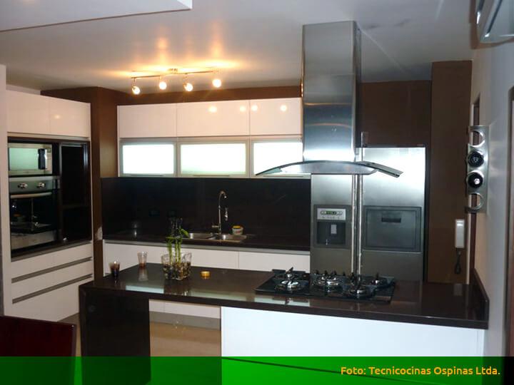 Modernas cocinas integrales fabricadas en termolaminado for Fabrica de cocinas integrales