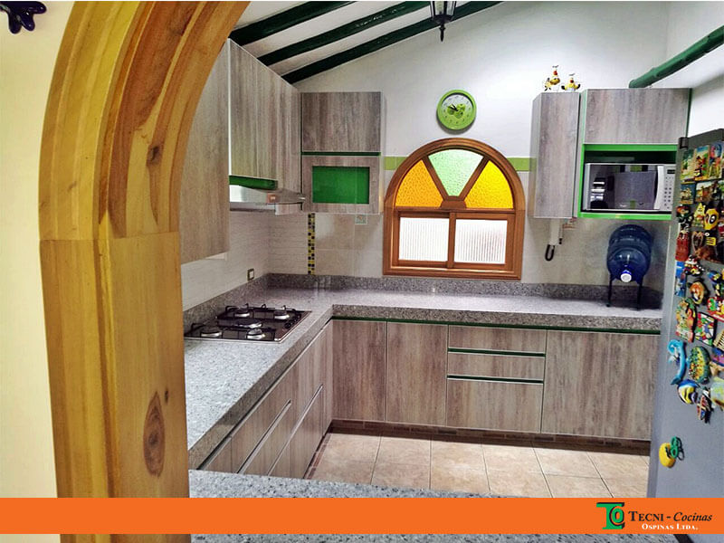 Cocinas integrales realizadas en f rmica con dise o moderno for Planos para cocina integral de madera