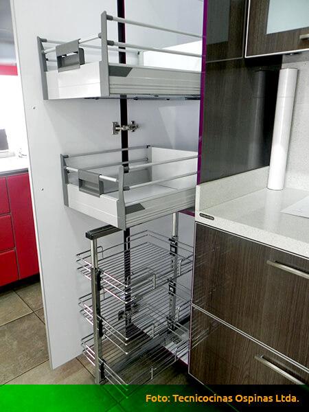 Alacenas para organizar usando diversos materiales for Cocinas integrales baratas en bogota