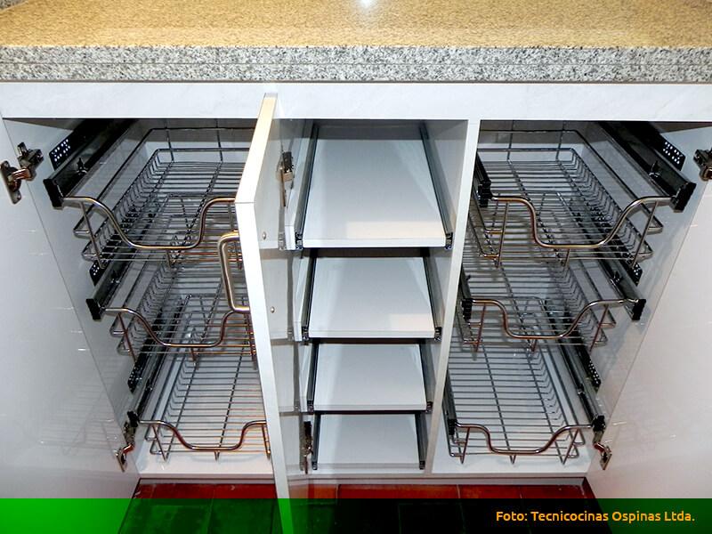Herrajes que ofrecen grandes soluciones a su cocina integral - Figuras de acero inoxidable ...