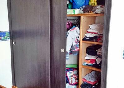 Marco frente para closet elaborado en madecor