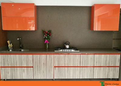 Mesón y salpique alto en Silestone color gris amazon suede - cocina  exhibición punto de fábrica