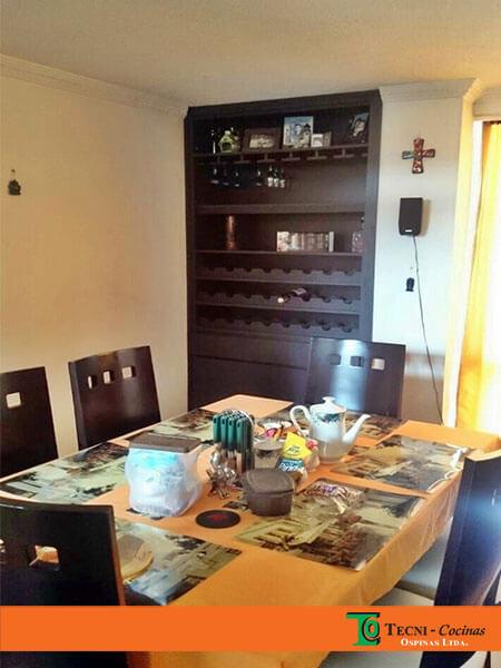 Multimuebles personalizados en diferentes materiales for Mueble auxiliar comedor