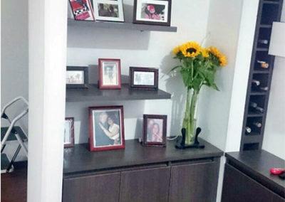 Mueble auxiliar a mueble de televisión elaborado en Madecor