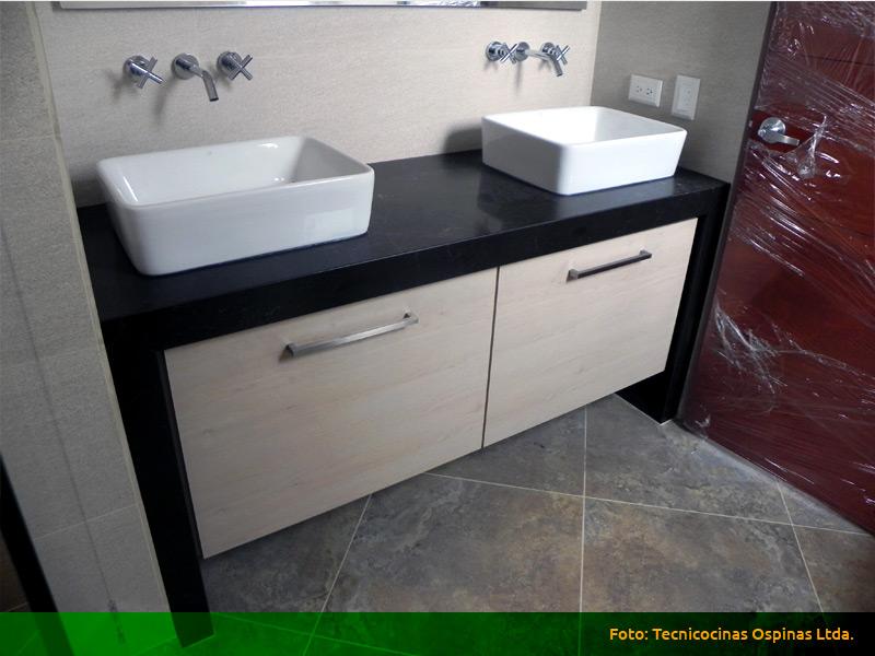 Muebles de ba o acabados en f rmica m rmol y granito for Muebles bano bogota