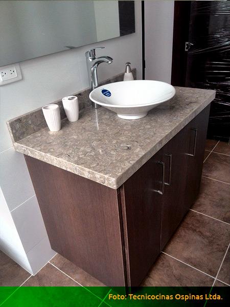 Muebles de ba o acabados en f rmica m rmol y granito for Marmol color cafe