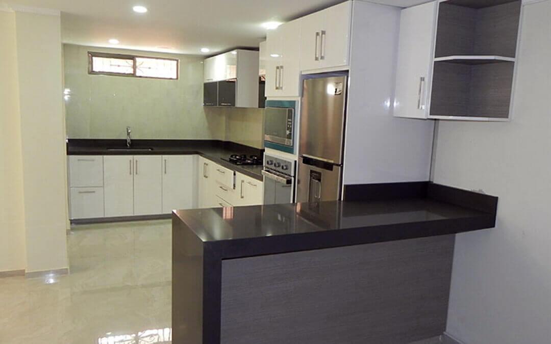 Elige tu cocina integral ideal en forma de l u con isla o mes n auxiliar - Cocinas forma l ...