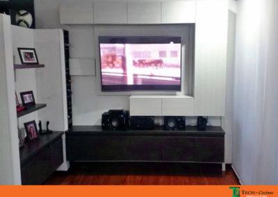 Mueble televisión diseño personalizado elaborado en Madecor