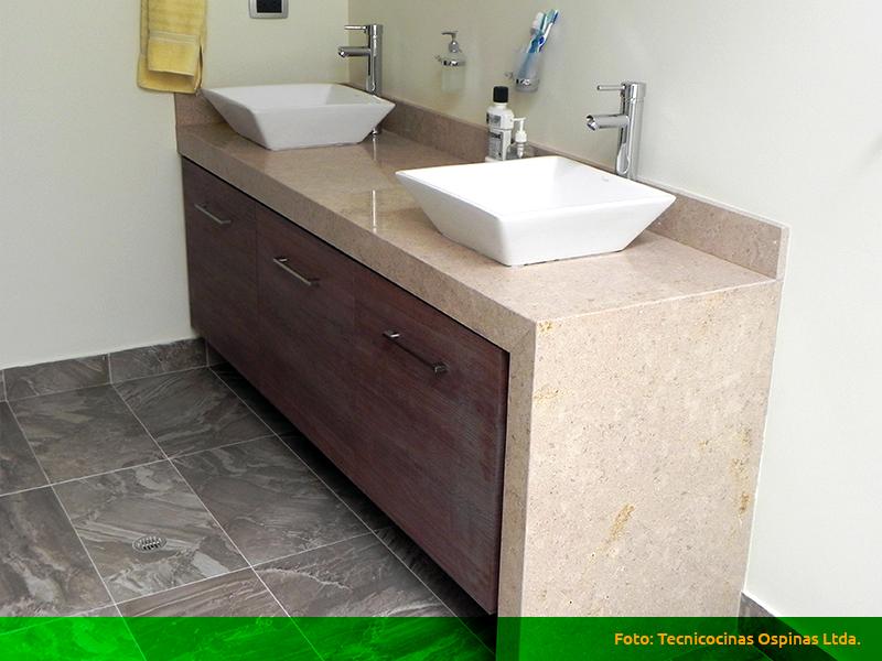 Muebles de ba o acabados en f rmica m rmol y granito - Marmol para banos ...